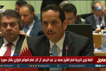 فيديو  وزير الخارجية القطري: لا حل في سوريا من دون رحيل الأسد
