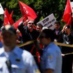 أمريكا تشجب العنف بين محتجين ورجال أمن أتراك خلال زيارة أردوغان