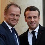 ماكرون يحض توسك على الذهاب «بعيدا» في «إعادة بناء» أوروبا