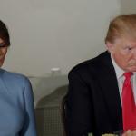 فيديو| ميلانيا ترفض أن يمسك ترامب يدها للمرة الثانية