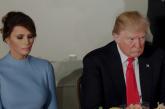 فيديو  ميلانيا ترفض أن يمسك ترامب يدها للمرة الثانية