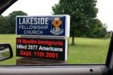 كنيسة داعمة لترامب تحرض على المسلمين وتحملهم مسؤولية 11 سبتمبر