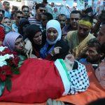تشييع جنازة طفلة فلسطينية استشهدت برصاص الاحتلال