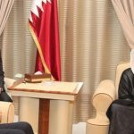 أمير قطر يبحث مع ظريف العلاقات الثنائية والقضايا الإقليمية