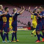 ميسي يقود برشلونة للفوز على لاس بالماس أمام مدرجات خالية
