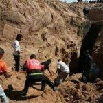5 إصابات من عناصر الدفاع المدني أثناء البحث عن مفقودين في نفق خان يونس