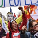 احتجاجات عمالية تزامنا مع مهرجان لندن السينمائي