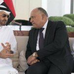 سامح شكري يبحث مع ولي عهد أبو ظبي تطورات الأوضاع في المنطقة وسبل تعزيز العمل العربي المشترك