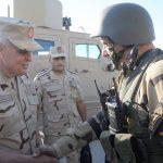 صور|رئيس أركان الجيش المصرييتفقد عناصر القوات المسلحة والشرطة بسيناء