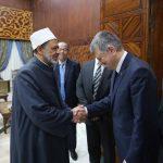 رئيس برلمان المجر خلال لقائه الإمام الأكبر:جهود الأزهر العالمية نزعت الغطاء الديني عن ممارسات التنظيمات الإرهابية