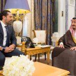 الملك سلمان يلتقي سعد الحريري في قصره بالرياض