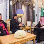 العاهل السعودي الملك سلمان يستقبل البطريرك اللبناني بشارة الراعي