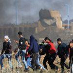 إصابة 8 فلسطينيين بمواجهات اليوم الـ13 لمسيرة العودة على حدود غزة