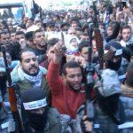 الفلسطينييون يشيعون 4 شهداء سقطوا في قصف الاحتلال غزة
