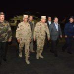 فيديو| عودة وزيري الدفاع والداخلية من سيناء