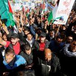 الأردنيون يتظاهرون أمام السفارة الأمريكية رفضا لقرار ترامب بشأن القدس