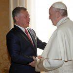 البابا يبحث ملف القدس مع العاهل الأردني