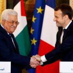 الرئيس الفرنسي يتباحث مع عباس قبل لقائه بترامب