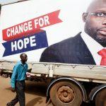 صور  نجم كرة القدم السابق جورج ويا يفوز برئاسة ليبيريا