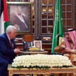 الرئيس عباس يطلع الملك سلمان على التطورات بشأن القدس