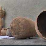 فيديو | مزارع ليبي يكتشف مقبرة مليئة بالآثار الفخارية