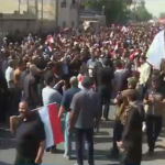 فيديو| العراق تنتفض احتجاجا على قرار ترامب نقل السفارة الأمريكية للقدس