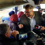عضو كنيست يعتدي على أهالي أسرى غزة