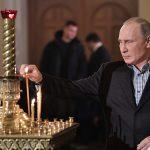 بوتين حضر قداس الميلاد في إحدى كنائس سان بطرسبورغ