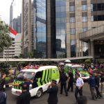 صور  إصابة نحو 12 شخصا في انهيار ببورصة إندونيسيا