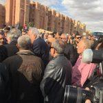 صور  المئات يشاركون في مراسم دفن الكاتب الصحفي إبراهيم نافع