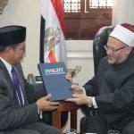 مفتي الجمهورية يستقبل وفدا إندونيسيا رفيع المستوى لتعزيز أوجه التعاون بين البلدين