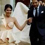 فستان زفاف التونسية مرام بن عزيزة يثير الجدل عبر مواقع التواصل الاجتماعي