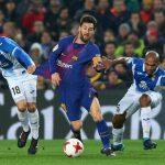 برشلونة يتغلب علي إسبانيول و يبلغ نصف نهائي كأس اسبانيا