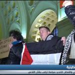 فيديو  وقفة احتجاجية في واشنطن للتنديد بسياسات ترامب تجاه القدس