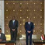 السيسي ورئيس وزراء إثيوبيا يشهدان توقيع عدد من الاتفاقيات الثنائية