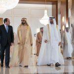 بن زايد وبن راشد يستقبلان السيسي في الإمارات
