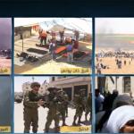فيديو  مراسل الغد: الاحتلال يطلق قنابل الغاز تجاه المتظاهرين الفلسطينيين في البيرة