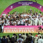 الكويت يتسلم كأس الدوري بعد التتويج للمرة 14