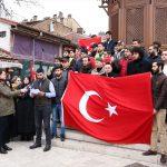 مظاهرة أمام السفارة التركية في لندن احتجاجا على زيارة أردوغان إلى بريطانيا