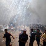 إصابة 86 فلسطينياً بمواجهات مع الاحتلال على الحدود الشرقية لقطاع غزة