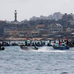 صور| انطلاق أول قافلة بحرية لكسر الحصار عن غزة