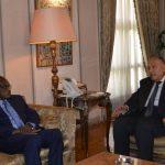 جلسة مباحثات بين وزيري خارجية مصر والسودان