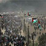 مئات المتظاهرين الفلسطينيين يقتحمون الحدود الشرقية لغزة