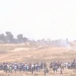 فيديو| مراسلة الغد: المتظاهرون الفلسطينيون يجتازون السياج الفاصل شرقي غزة