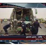 فيديو| تفاصيل مصرع 3 سودانيين وإصابة 52 آخرين في حادث تصادم بالمنيا