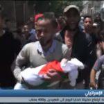فيديو| تشييع جثامين 60 شهيدا جراء مجزرة الاحتلال في مسيرة العودة الكبرى