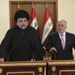 العبادي ومقتدى الصدر يعلنان تحالفا سياسيا لتشكيل الحكومة العراقية