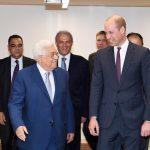 الرئيس عباس للأمير ويليام: نريد الوصول للسلام من خلال المفاوضات