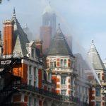 اندلاع حريق ضخم بفندق وسط لندن