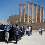 صور| الأمير وليام يزور مدينة جرش الأثرية في الأردن